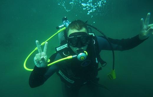 Подводный сигнал peace .