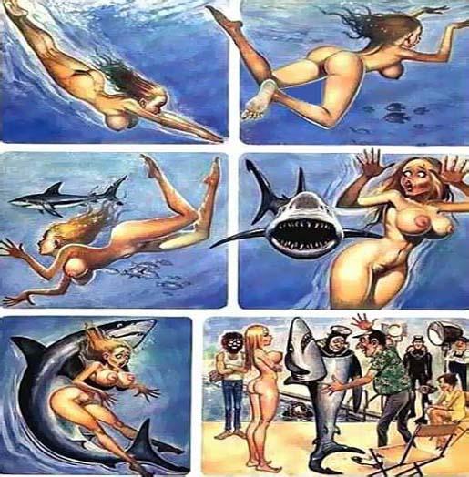 Супер красивая Девушка и акула