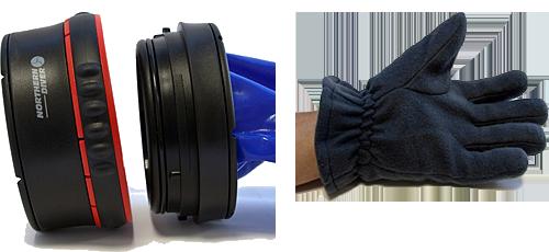 Northern Diver представляет революционную концепцию в системе сухих перчаток для латексных и неопреновых обтюраторов.